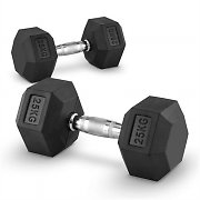Capital Sports Hexbell Dumbbell Kurzhantel Paar 25kg