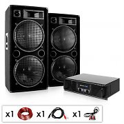 DJ PA Komplettset &quot;Phuket Pulsar&quot; Verstrker 2x Boxen