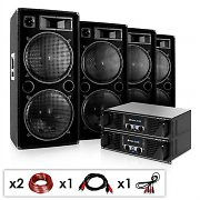 DJ PA Komplettset &quot;Phuket Pulsar Pro&quot; 2x Verstrker 4x Boxen