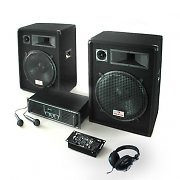 "Sistema dj set pa amplificatore casse 15"" mixer usb mp3"