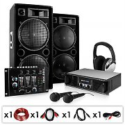 Set completo ''Block Party'' 2000W amplificatore casse