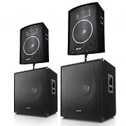 "PA Set ""Berlin Bassline"" 2000 Watt 2.2 Set 2Boxen 2 Subwoofer"