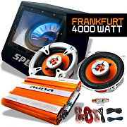 Auna SPL Frankfurt Set car HiFi 2.1 4000W luci led