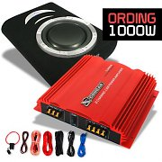 Ording Set car HiFi 0.1 subwoofer e ampli Cougar 1000W