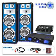 "PA Set Blue Star Series ""Bassveteran USB"" 1200 Watt"
