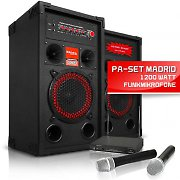 PA Set &quot;Madrid&quot; 2x Box 2x Funkmikrofon Set 1200W