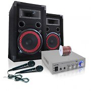 PA Anlage &quot;EASY V.2&quot; DJ Set Verstrker Boxen Mikrofone 500W