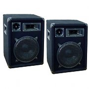 "2x casse 10"" - 3 vie - 800 watts -dj/pa/ disco surround"