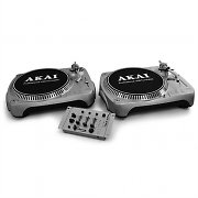 Mixer giradischi usb set kit dj pa effetti turntable pc