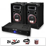 DJ12  Set audio professionale 1ampli e 2casse 1000W