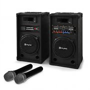 """STAR-10"" Set per karaoke casse PA e microfoni wireless"