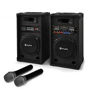 Karaoke-Anlage &quot;STAR-8&quot; PA Boxen Funk Mikrofon 600W