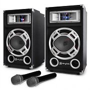 "Set karaoke ""STAR-20"" casse PA microfoni wireless 500W"