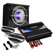 Auna Black Line 320 Set car Hi Fi 2.1 2800W casse 3 vie