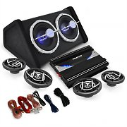 Auna Black Line520 Set car HiFi 4.1 5000W casse 3 vie