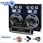 "Blue Star Series ""Bassmix"" sistema audio DJ 1600 Watt"