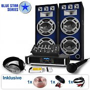 "Blue Star Series ""Megabassmix"" sistema audio DJ 2000 Watt"