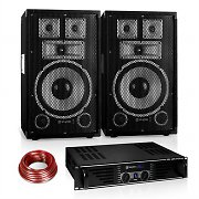 "PA Set Saphir Series ""Warm Up Party"" 10PLUS mit Paar Boxen & Verstärker 600W"