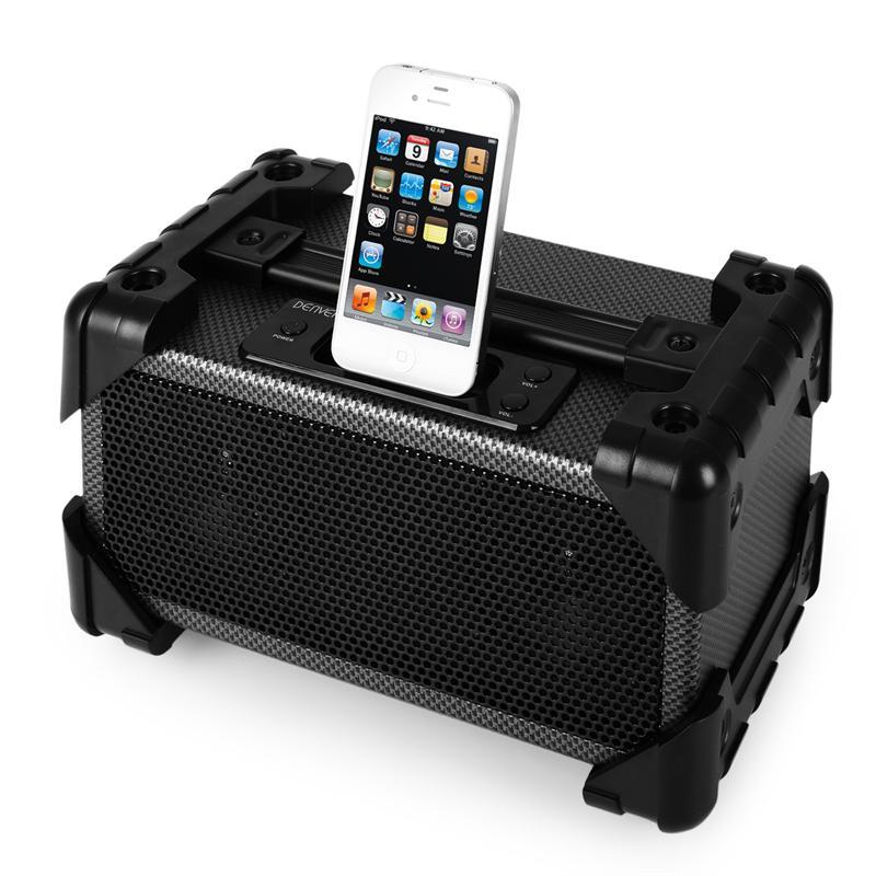 Denver IFI-140 Base Dock iPod-iPhone AUX Carbono