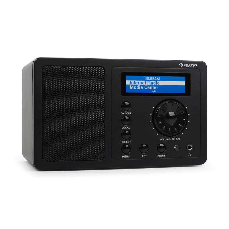 Auna IR-130 internetové rádio, WLAN, černé, streaming