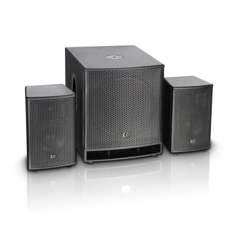 """LD Systems Dave 15 G³ aktives 38cm (15"""") 2.1 PA-System 700W DSP"""