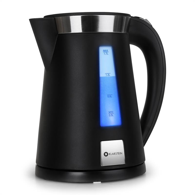 Klarstein Sunday Morning Wasserkocher 2200W 1,7L LED Cool Touch schwarz
