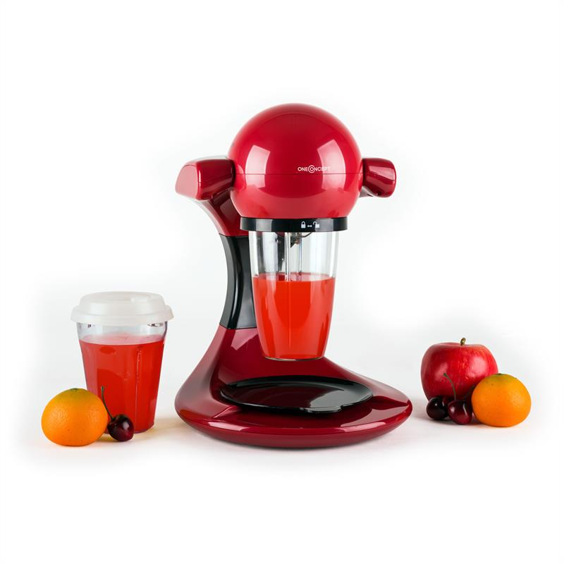 oneConcept Smoooothy Smoothie Maker 350 W rot schwarz