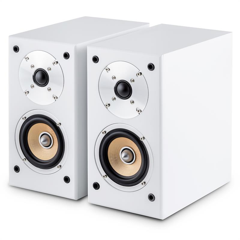 auna Linie-501 set de altavoces 2 x altavoz de estanter?a - 1 x central - cable de 10m blanco