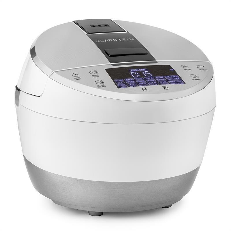 Klarstein Hotpot Multifunktionskocher Multi Cooker 23 in 1 950W 5l Touch weiß