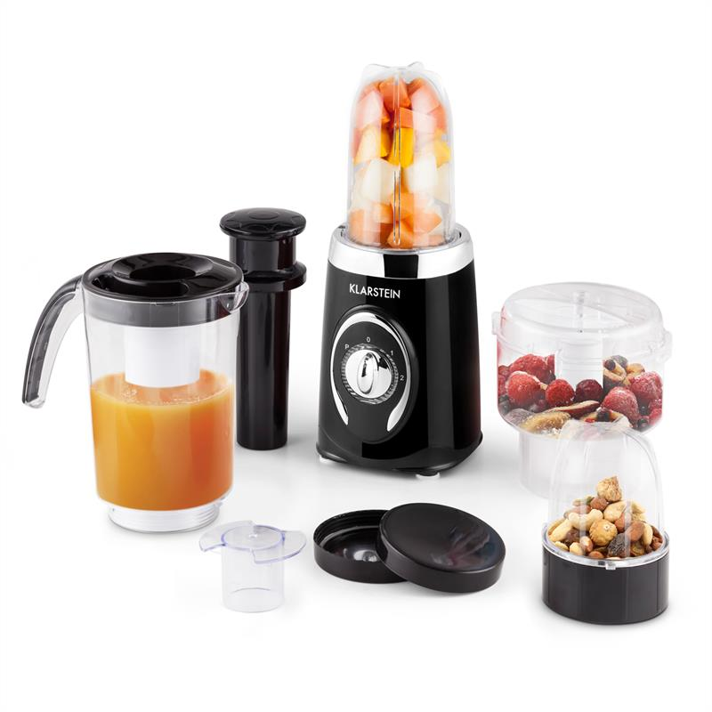 Klarstein Fruizooka Mixer Smoothiemaker 4 in 1 Multifunktionsgerät 220W schwarz
