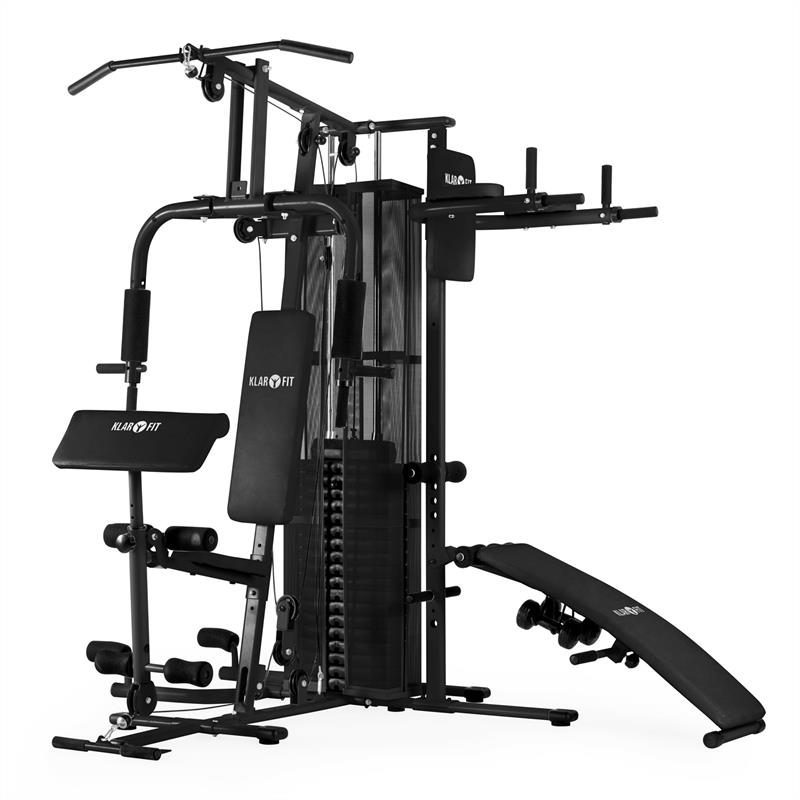 Ultimate Gym 5000 multifunktionale Fitness-Station schwarz