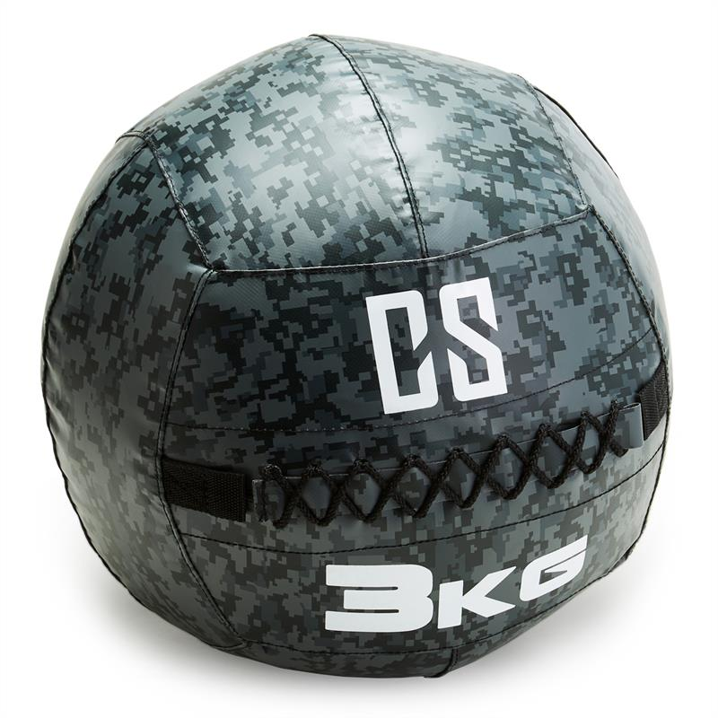 Elektronic-star DE CAPITAL SPORTS Restricamo Wall Ball Medizinball PVC 3kg Camouflage