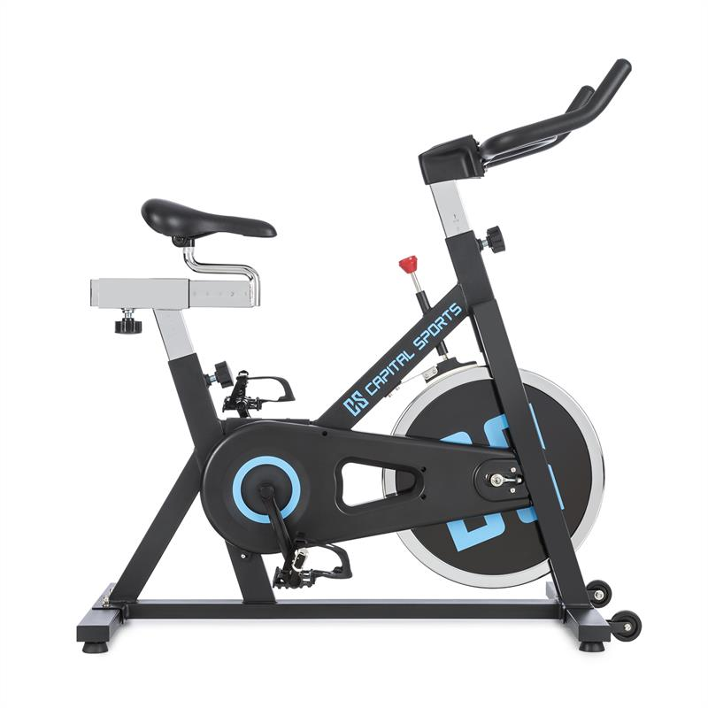 Capital Sports Spinnado - X13 Bicicleta indoor 13 kg Rueda de inercia Accionamie