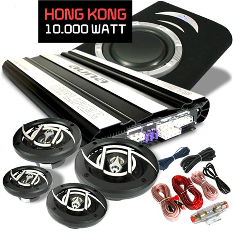 Hi-fi set do auta Hongkong, 4.1,10 000 W,4 repro,1 subwoofer