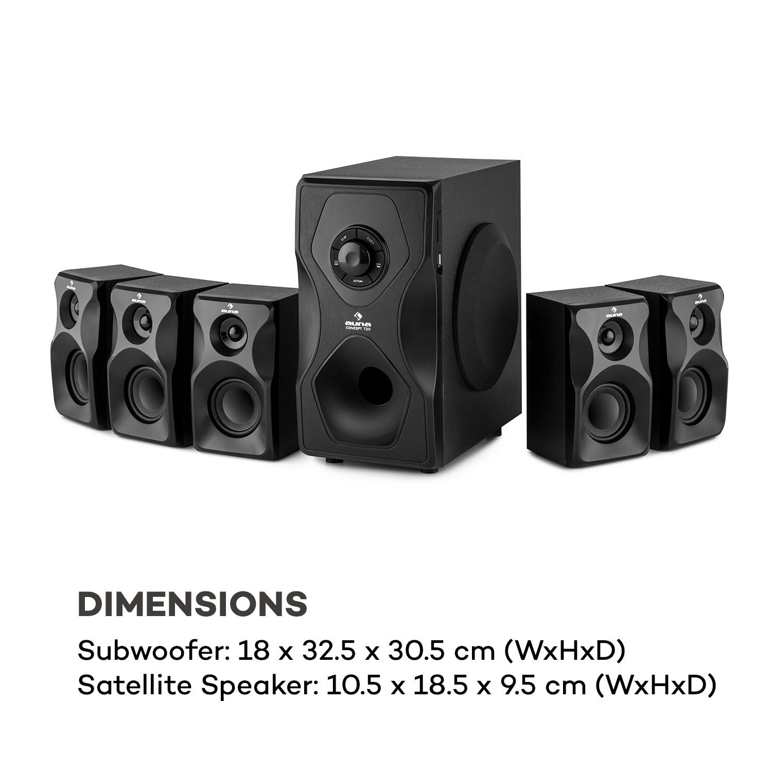 Home-Theater-Sistema-5-1-Cinema-Sound-Surround-System-Bluetooth-USB-95W-RMS miniatura 9
